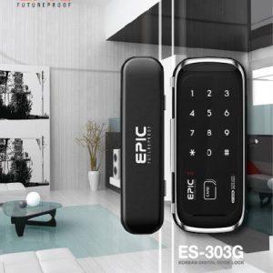 epic303 glass door lock สำหรับประตูกระจกขอบบาง